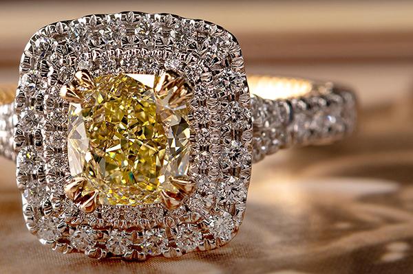 High Quality Cushion Color Diamond Gemstone Canada Vancouver BC Surrey Langley Burnaby Abbotsford Victoria