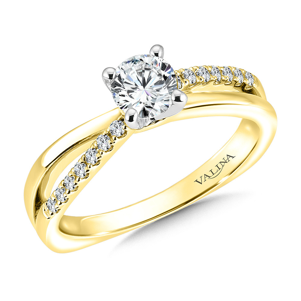 Prong Setting Diamond Gold Engagement Ring Women Excel Jewellers Surrey Canada Langley Vancouver
